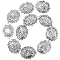 Native American Silver Concho Belt 35713