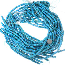 Turquoise Beads 8mm Flat Rondelle Blue 35510