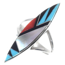 Zuni Inlay Pointer Ring 35725