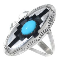 Navajo Turquoise Shadowbox Ring 35727