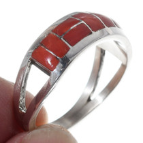 Native American Coral Ring 35729