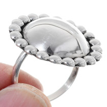 All Silver Western Ladies Ring 35730