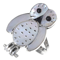 Zuni Inlay Owl Ring 35731