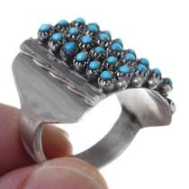 Zuni Snake Eye Turquoise Ring 35737