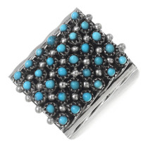 Turquoise Silver Zuni Ring 35737