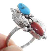 Traditional Native American Turquoise Ring 35742