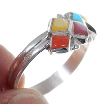 Turquoise Shell Silver Ladies Ring 35744