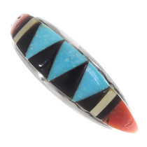 Zuni Inlay Gemstone Turquoise Ring 35745