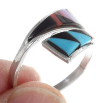 Turquoise Pink Shell Coral Zuni Ring 35750