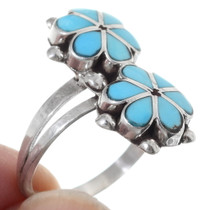 Turquoise Flower Native American Ring 35752