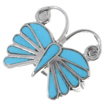 Zuni Turquoise Butterfly Ring 35753