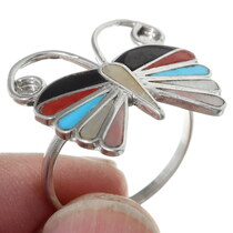 Gemstone Inlay Zuni Tribe Jewelry 35754