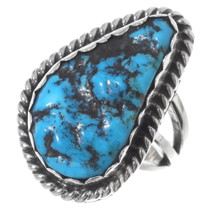 Turquoise Nugget Navajo Ring 35756