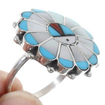 Native American Sunface Turquoise Ring 35758