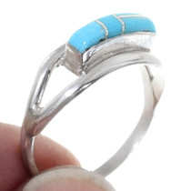 Zuni Turquoise Silver Ladies Ring 35759