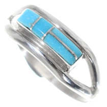 Turquoise Inlay Silver Band 35759