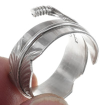 Native American Silver Feather Ring 35763