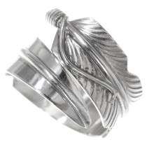 Sterling Silver Feather Ring 35763