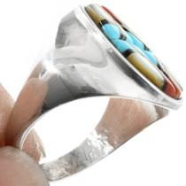 Turquoise Ring Zuni Artist Yelmo Natachu 32259