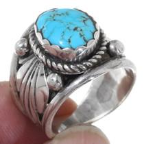 Kingman Spiderweb Turquoise Mens Ring 35765
