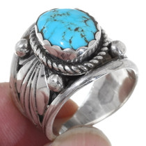 Kingman Spiderweb Turquoise Mens Ring 35765