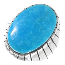 Native American Turquoise Silver Ring 35766