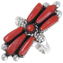 Native American Coral Ring 35805