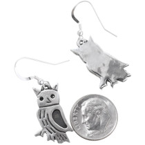 Owl Dangle Earrings French Hook 35806