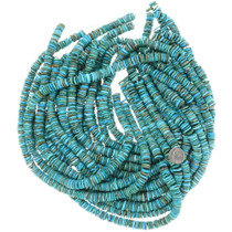 High Grade Turquoise Disc Beads 35515
