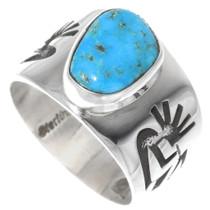 Silver Turquoise Kokopelli Ring 35813