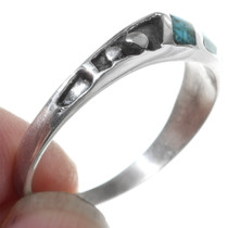 Navajo Made Turquoise Western Ring 35817