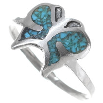 Navajo Turquoise Butterfly Ring 35821