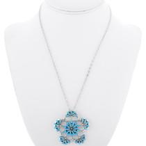 Turquoise Petit Point Snowflake Pendant 35823