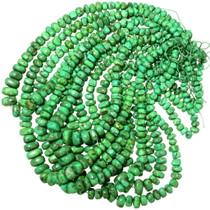 Kiwi Green Graduated Turquoise Nuggets Bead Strand 35518