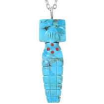 Carved Turquoise Pendant 35837