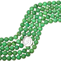 Round Bright Green Turquoise Beads 35519