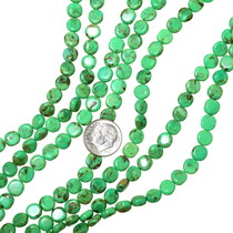 Green Turquoise Coin Beads 35521