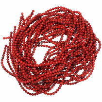 5mm Red Coral Round Beads 35524