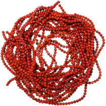 6mm Round Apple Red Coral Beads 35525