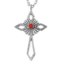 Navajo Sterling Silver Cross Pendant 35844