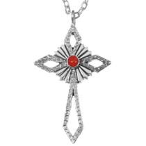 Navajo Sterling Silver Cross Pendant 35844