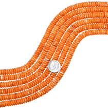 Spiny Oyster Flat Rondelle Beads 35527