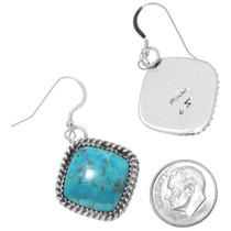 Western Turquoise Dangle Earrings 35847