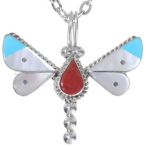 Inlaid Gemstone Butterfly Pendant 35851