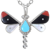 Small Zuni Inlaid Butterfly Pendant 35856