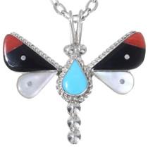 Small Zuni Inlaid Butterfly Pendant 35856