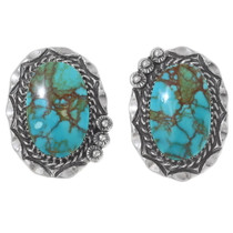 Number 8 Turquoise Navajo Earrings 35863