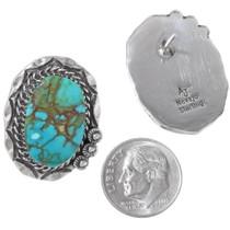 Authentic Navajo Avin Joe Turquoise Earrings Signed 35863