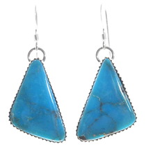 Sterling Silver Turquoise Dangle Earrings 35965