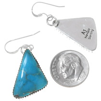 Native American Turquoise Earrings Artist Signed 35965